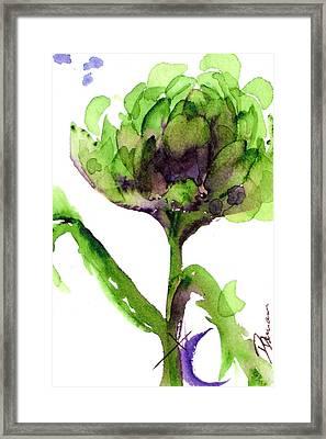 Artichoke Framed Print by Dawn Derman