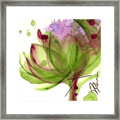 Artichoke Flower Framed Print by Dawn Derman