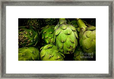 Artichokes Framed Print by Amy Cicconi