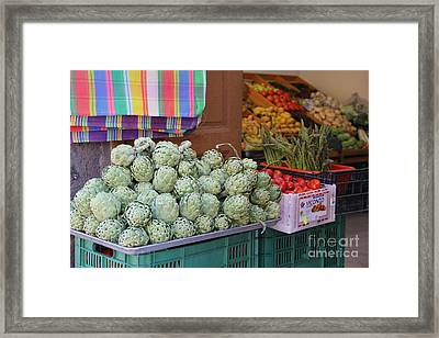 Artichokes And Asparagus Guanajuato Framed Print by Linda Queally