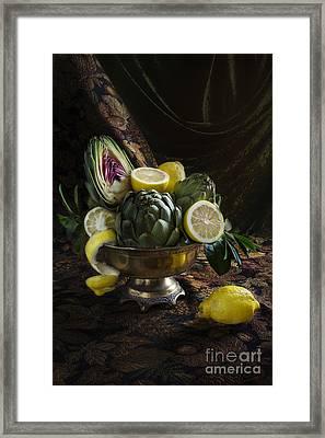 Artichokes And Lemons Framed Print