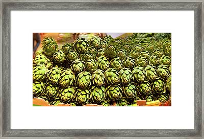 Artichokes At Farm Stand, Route 34 Framed Print