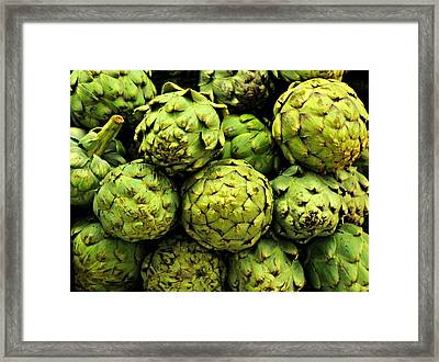 Artichokes Framed Print by Diana Angstadt