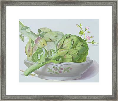 Artichokes Framed Print by Lizzie Riches