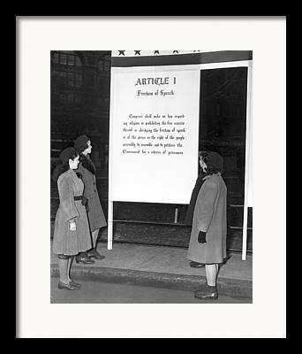 Freedom Of Speech Framed Prints