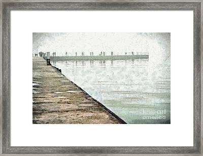 Artificial Bay In Azov Sea Painting Framed Print