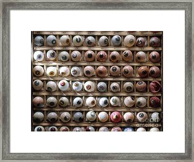 Artificial Eyes  Disorders Framed Print by Brooks Brown