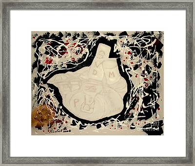 Framed Print featuring the painting Artificial Heart  by Richard W Linford