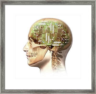 Artificial Intelligence Framed Print by Leonello Calvetti