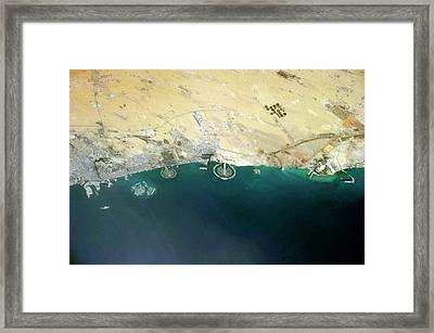 Artificial Islands Framed Print