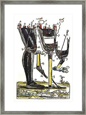 Artificial Legs Designed By Ambroise Framed Print
