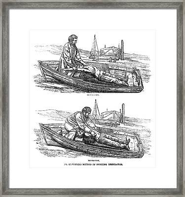 Artificial Respiration, 1864 Framed Print by Granger