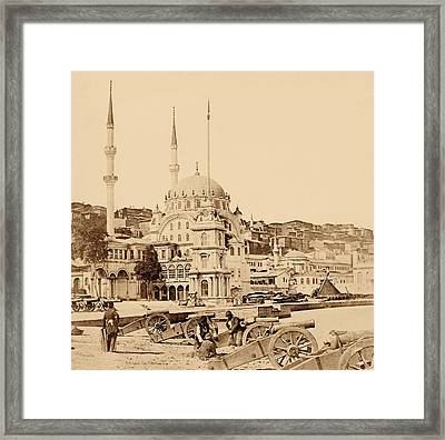Artillery And Munition Store, Istanbul Framed Print by Felice Beato