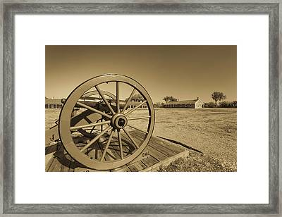 Artillery At Fort Larned National Framed Print by Panoramic Images