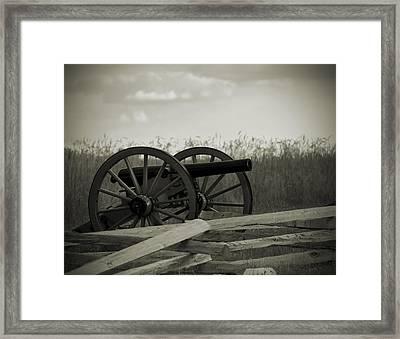 Artillery At Mcpherson Ridge Framed Print