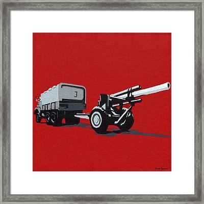 Artillery Gun Framed Print