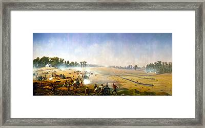Artillery Hell At Antietam Framed Print