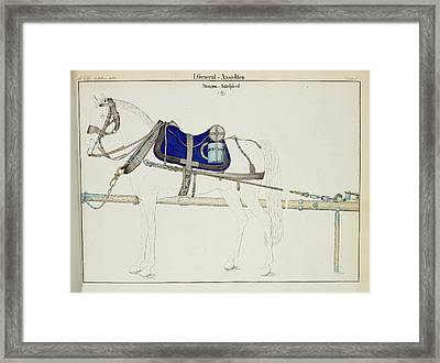 Artillery Horse Furniture Framed Print