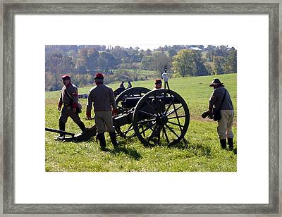 Artillery In Position - Perryville Ky Framed Print by Thia Stover
