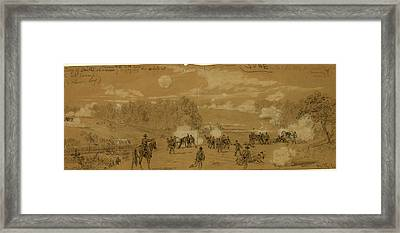 Artillery Of Smiths Division Commanded By Capt Framed Print by Quint Lox