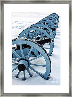 Artillery Framed Print by Olivier Le Queinec