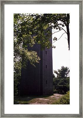 Artillery Spotting Tower Framed Print by David Fiske