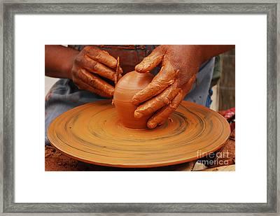 Artisan Hands Framed Print by Susan Hernandez