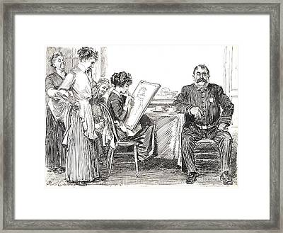 Artist And Model 1912 Framed Print by Padre Art