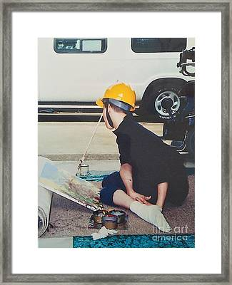 Framed Print featuring the painting Artist At 16 Yrs Old by Donald J Ryker III