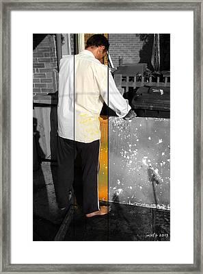 Artist At Work Part Two Framed Print by Sir Josef - Social Critic -  Maha Art