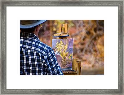Artist At Work - Zion Framed Print by Jon Berghoff