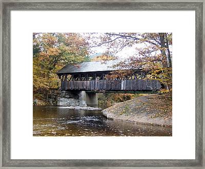 Artist Covered Bridge Framed Print by Catherine Gagne