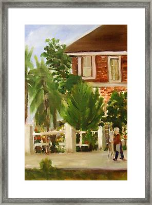 Artist In Galveston Framed Print by Betty Pimm