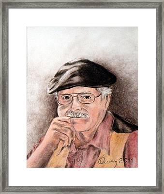 Artist In Solitary Thought Framed Print