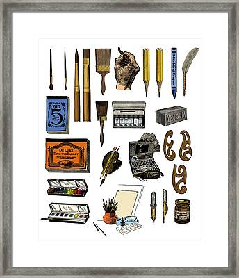 Artist Materials Framed Print by Science Source