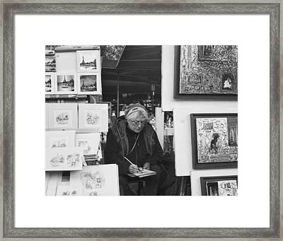 Artist Montmartre Framed Print by Hugh Smith