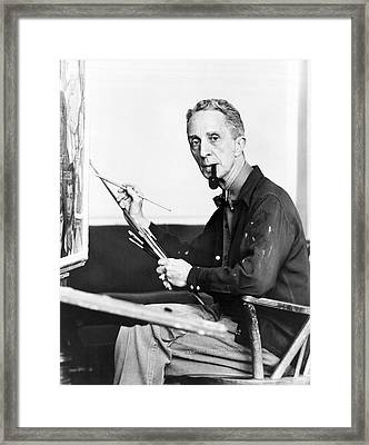 Artist Norman Rockwell Framed Print by Underwood Archives