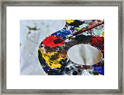 Artist Palette Of Color Framed Print by Paul Ward