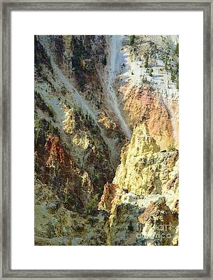 Artist Palette Of Yellowstone Framed Print by Kathleen Struckle