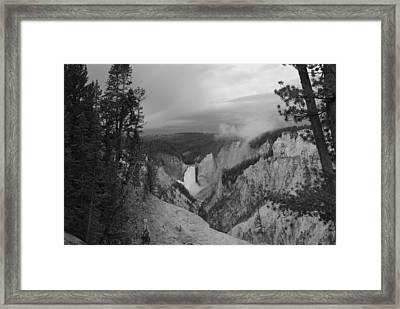 Artist Point Black And White Framed Print by Robert  Moss