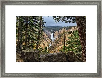 Artist Point Lower Falls   Framed Print