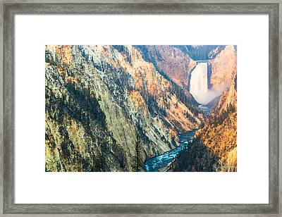 Artist Point - Yellowstone Park Horizontal Framed Print by Andres Leon