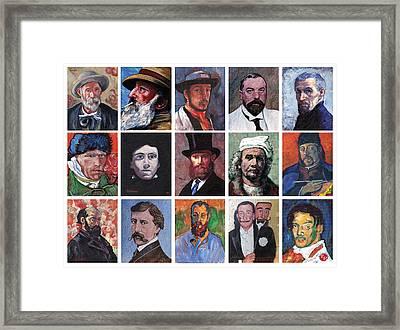 Artist Portraits Mosaic Framed Print by Tom Roderick