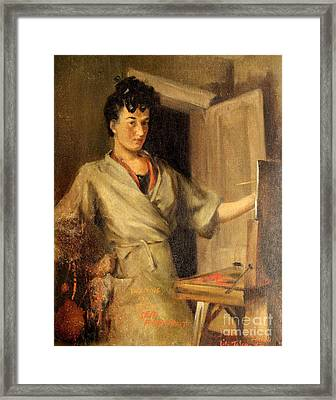 Artist Waiting For First Child Framed Print by Art By Tolpo Collection