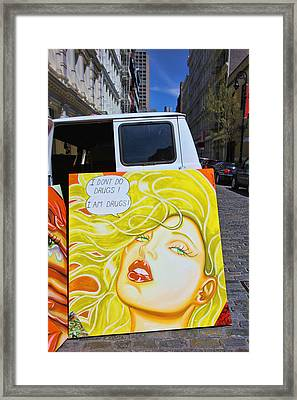Artist With Attitude Framed Print by Allen Beatty