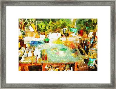 Artist Workplace Painting Framed Print by Magomed Magomedagaev
