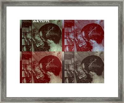 Framed Print featuring the photograph Artiste Stevo York Headpainting Part One by Sir Josef - Social Critic - ART
