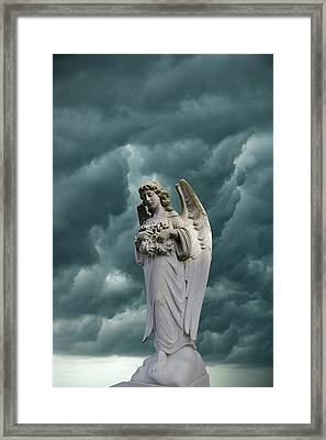 Artistic Creation Of Angel And Dark Framed Print by Jaynes Gallery