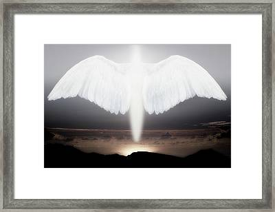 Artistic Creation Of Angel Or Spirit Framed Print by Jaynes Gallery
