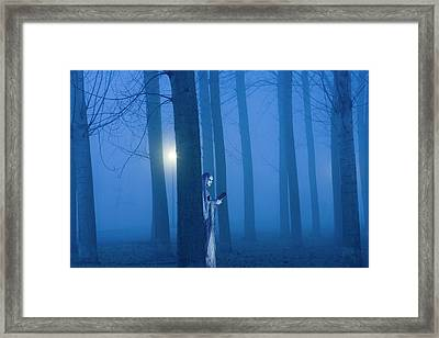 Artistic Creation Of Ghostly Figure Framed Print by Jaynes Gallery